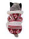 Hund Kappor Huvtröjor Hundkläder Vändbar Håller värmen Jul Snöflinga Brun Röd Kostym För husdjur