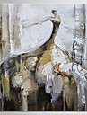 Pictat manual Abstract / Oameni Picturi de ulei,Modern / Clasic Un Panou Canava Hang-pictate pictură în ulei For Pagina de decorare
