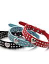 Pisici / Câini Gulere Ajustabile/Retractabil / Confecționat Manual Inimi / Ștras Roșu / Negru / Albastru / Roz / Portocaliu PU piele