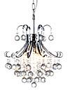 QINGMING® 3 lumieres Lustre Lumiere dirigee vers le bas - Cristal, 110-120V / 220-240V Ampoule non incluse / 10-15㎡ / E12 / E14