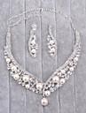 Pentru femei Imitație de Perle / Ștras Set bijuterii - Include Argintiu Pentru Nuntă