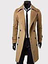 Bărbați Palton Muncă Simplu Vintage,Mată Mânecă Lungă Iarnă Toamnă-Lung