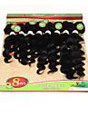 Brasilianskt hår Nyans Stora vågor Hårförlängningar 1 st. Svart Svart/Rödlätt Svart / Medium Rödbrun Svart / Vinröd