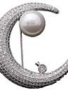 Pentru femei Broșe - MOON Personalizat, Lux Broșă Argintiu Pentru Zilnic