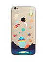 Maska Pentru Apple iPhone X iPhone 8 Plus iPhone 7 iPhone 6 Carcasă iPhone 5 Translucid Model Carcasă Spate Desene Animate Moale TPU