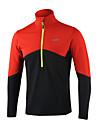 Arsuxeo Homme Tee-shirt de Course Manches Longues Garder au chaud, Doux, Anti-transpiration Haut Zippe pour Exercice & Fitness / Courses