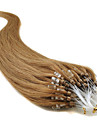 Febay マイクロリングヘアエクステンション 人間の髪の拡張機能 ストレート 人毛 ダークオーバーン