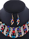Pentru femei Cristal Set bijuterii - Ștras, Placat Cu Aur Roz, Diamante Artificiale Lux, Boem, Boho Include Coliere / Cercei Roz / Curcubeu / Maro deschis Pentru Nuntă / Petrecere / Ocazie specială