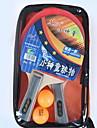 Ping Pang / Table Tennis Rackets Wood Long Handle / Inverted Pimples Long Handle / Inverted Pimples 2 Rackets / 2 Table Tennis Balls -