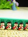 Crăciun om de zăpadă cu unelte de decor eșarfă fondantă de tort de ciocolată silicon mucegai tort, l12 * W4 * h1.3cm