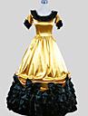 فيكتوريا العصور الوسطى كوستيوم نسائي فساتين أزياء الحفلة حفلة تنكرية عتيقة تأثيري شارميوس كم قصير طول الكعب