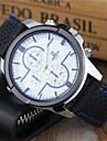 Bărbați Ceas Sport / Ceas Breloc / Ceas de Mână Ceas Casual / Cool Silicon Bandă Casual / Ceas Elegant Negru / Alb / Albastru
