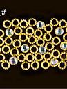 100pcs Autres decorations Glitters Metallique Mode Haute qualite Quotidien