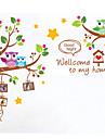 Djur Tecknat Väggklistermärken Animal Wall Stickers Dekrativa Väggstickers, Vinyl Hem-dekoration vägg~~POS=TRUNC Vägg