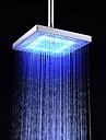 Moderne Douche pluie Chrome Fonctionnalite - Effet pluie Economique LED, Pomme de douche