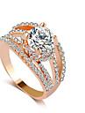 Pentru femei Inel - Diamante Artificiale Lux 6 / 7 / 8 Auriu / Argintiu Pentru Nuntă / Petrecere