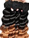 Brasilianskt hår Löst vågigt Hårförlängning av äkta hår 3pcs Human Hår vävar
