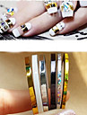 5 pcs Nail Jewelry Punk / Fashion Daily Nail Art Design / PVC(PolyVinyl Chloride)