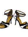 Latin Salsa-Pantofi de dans(Negru Albastru Roșu Argintiu Auriu) -Personalizabili-Damă