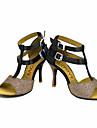 Latin Salsa-Pantofi de dans(Negru Albastru Galben Roz Violet Roșu) -Personalizabili-Damă