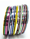 20 pcs Metal Brosse / Ultra Fin / Decalques pour ongles Autocollant feuille Nail Art Design