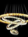 Moderne / Contemporain Lampe suspendue Lumiere d'ambiance - Cristal LED, 110-120V 220-240V, Blanc Neige Bayadere, Source lumineuse de LED