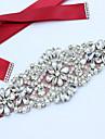Satin Nuntă Party / Seara Zilnice Cercevea With Piatră Semiprețioasă Mărgele Imitație de Perle Aplică Pentru femei Panglici