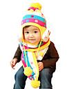 Fete Băieți Seturi de Eșarfe, Căciuli & Băști - Iarnă Îmbrăcăminte tricotată Galben Fucsia