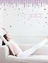 Romance Mode Floral Stickers muraux Autocollants avion Autocollants muraux decoratifs,Papier Materiel Decoration d\'interieur Calque Mural
