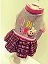 Câine Haine Hanorca Rochii Îmbrăcăminte Câini Englezesc Bej Gri Bumbac Nailon Celofibră/Poliester Costume Pentru animale de companie