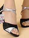 Latin - Pantofi de dans (Argintiu/Auriu) - Personalizat - Pentru femei