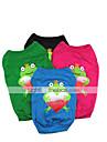 Chat Chien Tee-shirt Vetements pour Chien Bande dessinee Noir Rouge Vert Bleu Coton Costume Pour les animaux domestiques