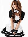 Mujer Traje de Camarera Disfraces carrera Camarero / Camarera Traje de Criada Genero Disfrace de Cosplay Ropa de Fiesta Un Color Vestido Para la Cabeza