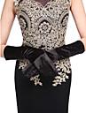 satin cot lungime mănuși mănuși de mână clasic feminin stil