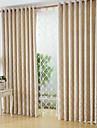 Stångficka Hyls-topp Hällor topp Dubbel veckad Penn veck Två paneler Fönster Behandling Moderna, Jacquard Geometrisk Sovrum