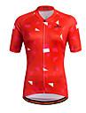 Miloto Women\'s Short Sleeve Cycling Jersey Stripes Plus Size Bike Shirt Sweatshirt Jersey Breathable Quick Dry Reflective Strips Sports 100% Polyester Mountain Bike MTB Road Bike Cycling Clothing