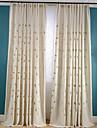 Două Panouri Tratamentul fereastră Țara Neoclasic Sufragerie Amestec de In/ Poliester Material perdele, draperii Pagina de decorare For