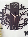 1pc 14 tum ihålig trä klocka rum mute klocka vägg klockor dekoration