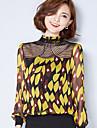 semna un nou sifon dantelă florale brodate împletit de mari dimensiuni tricou mici bottom cămașă bluze