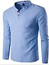 T-shirt Per uomo Sport Essenziale Tinta unita Colletto alla coreana - Cotone / Manica lunga / Taglia piccola