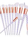 Professionel Make-up pensler Brush Sets 10pcs Fuld Dækning Begrænser bakterier Syntetisk Hår Metal / Plastik Makeupbørster til