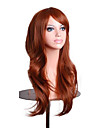 Perruque Synthetique Ondule Marron Rose Blanc Blond Femme Sans bonnet Perruque de Cosplay Long Cheveux Synthetiques