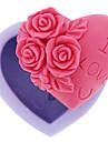Moule de Cuisson Coeur Fleur Pour Gateau Pour glace For Chocolate Pour Bonbons Silikon Bricolage 3D Haute qualite Papier a cuire