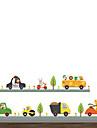 Djur Mode Transport Väggklistermärken Väggstickers Flygplan Dekrativa Väggstickers, Vinyl Hem-dekoration vägg~~POS=TRUNC Vägg Glas /