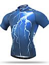 XINTOWN Homme / Femme Manches Courtes Maillot de Cyclisme - Bleu / Rouge Velo Sechage rapide, Respirable, Anti-transpiration