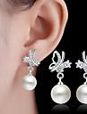 Pentru femei Imitație de Perle Cercei Picătură - Regulat Pentru Nuntă Petrecere Zilnic Casual
