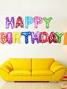 13pcs / set 16inch födelsedagen alfabetet brev ballonger flera färger folie ballonger parti