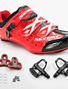 SIDEBIKE Homme Chaussures de Velo de Route / Chaussures de Cyclisme avec Pedale & Fixation Nylon Cyclisme / Velo Coussin PU de microfibre