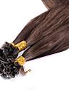 cheveux humains vierge clou cheveux bresiliens u Astuce extensions de cheveux de fusion keratiniques couleur pre lie directement # 4 1g /