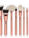 8pcs Pinceaux a maquillage Professionnel ensembles de brosses / Pinceau a Blush / Pinceau Fard a Paupieres Poil Synthetique Economique /